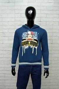 Felpa-Blu-Uomo-PAUL-FRANK-Taglia-S-Pullover-Cardigan-Sweater-Sweatshirt-Man