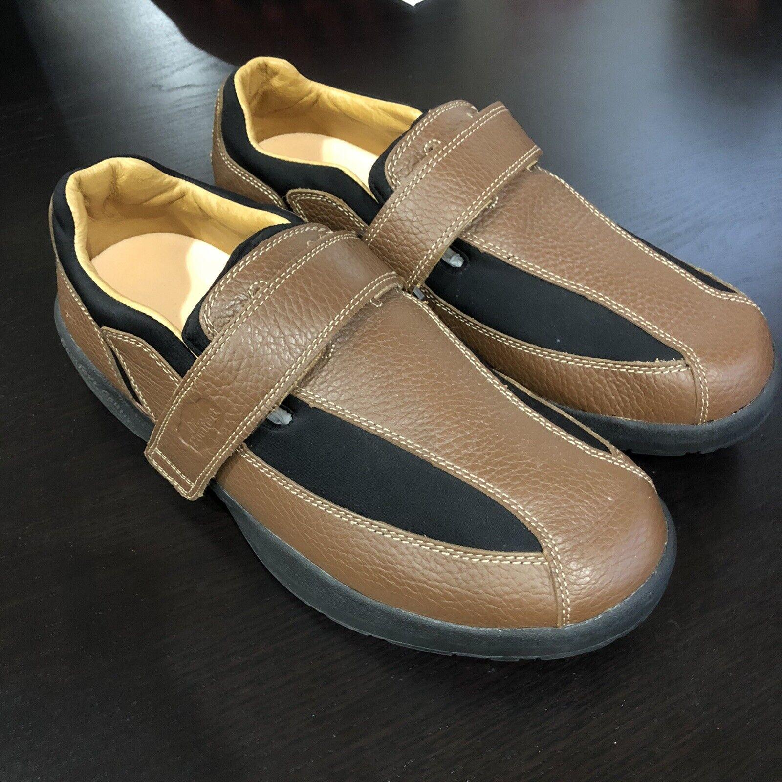 Dr.Comfort Diabetic Douglas Chestnut Brown Leather Shoes 6620 Men's 11 XW WIDE