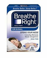 5 Pack Breathe Right Nasal Strips Original Tan Small/medium 30 Each = 150 Strips on sale