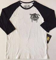 Men's Affliction Baseball Tee Three-quarter Length Sleeves Shirt
