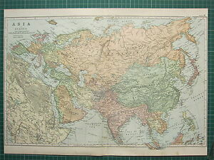 1900 large victorian map asia arabia india russian empire turkey image is loading 1900 large victorian map asia arabia india russian gumiabroncs Choice Image