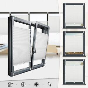Plissee Klemmfix Faltrollo ohne Bohren Jalousie Rollos für Fenster Easyfix