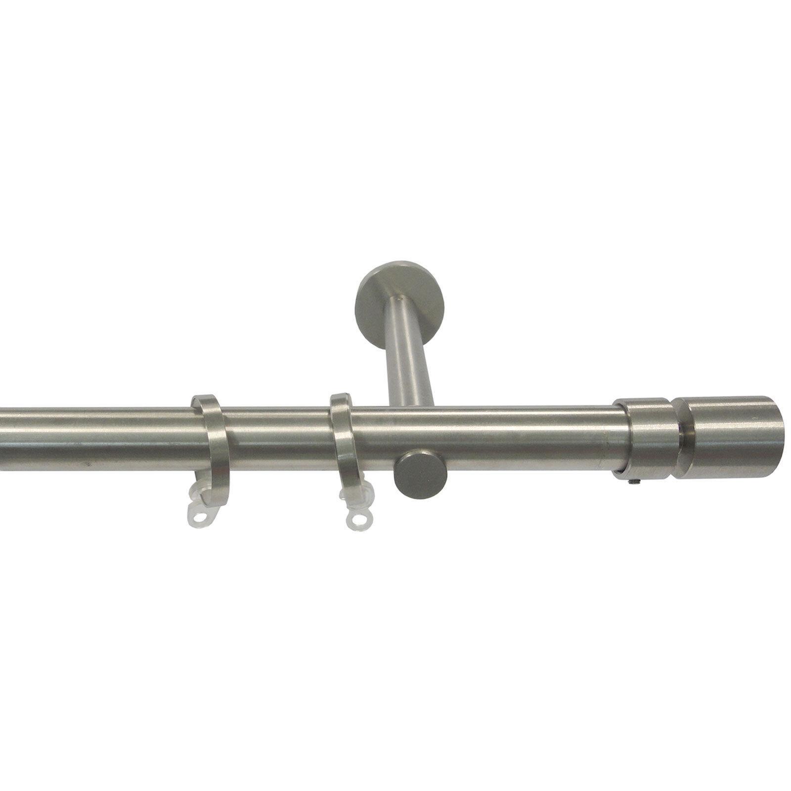 Bastoni per Tende in Acciaio Inox Aisi 304 Satinato D.20mm Completo Mod.AI20B