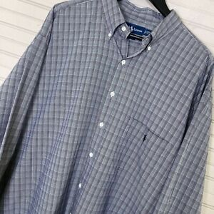 Polo-Ralph-Lauren-L-S-Button-Shirt-Glenn-Plaid-100-Cotton-Men-s-2XLT-TALL