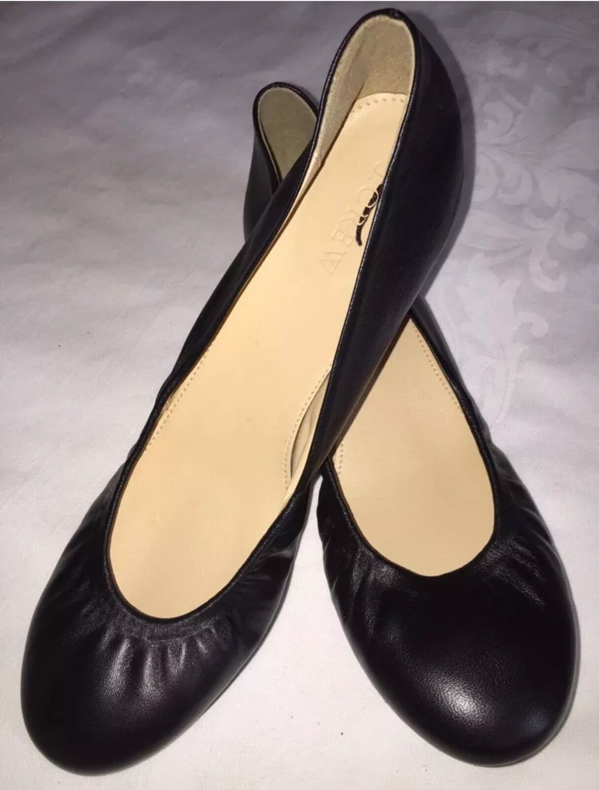 J Crew Cece Ballet Flats Black Leather 64408 NEW 6