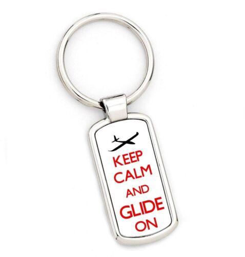 Keep Calm /& GLIDE gliding Key Ring  brand new original gift//present
