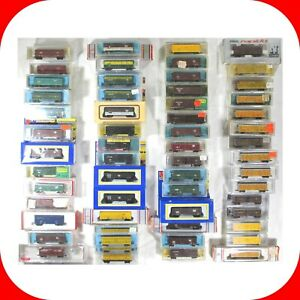 N-Scale-Stock-Cars-Cattle-Car-Variety-lot-Atlas-Life-Like-Trix-Micro-Trains