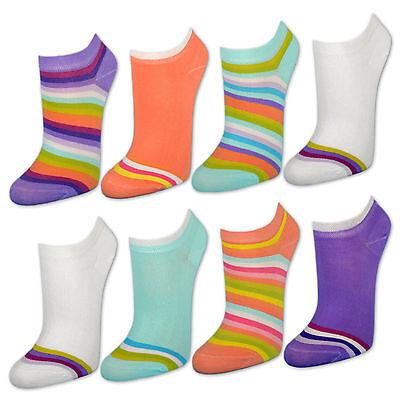 8 12 20 Paar Damen Sneaker Socken Bunte Ringel