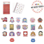 TWOTUCKGOM-MONSTA-X-Travel-Sticker-amp-Fashion-Sticker-Official-KPOP-Authentic-MD miniature 1