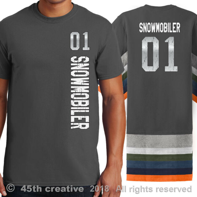Snowmobiling Evolution Snowmobile Hanes Tagless Tee T-Shirt