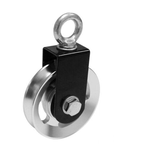 Solid Swivel Pulley Block U-Shape Single Wheel Spin Pulleys Guide Loading