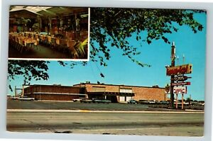 Chrome-View-of-Kona-Kai-Inn-Restaurant-Pool-Dumas-TX-Postcard-X27