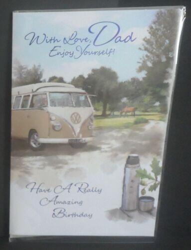 "DAD ENJOY YOURSELF!/"" /""WITH LOVE GREETINGS CARD VW CAMPERVAN"