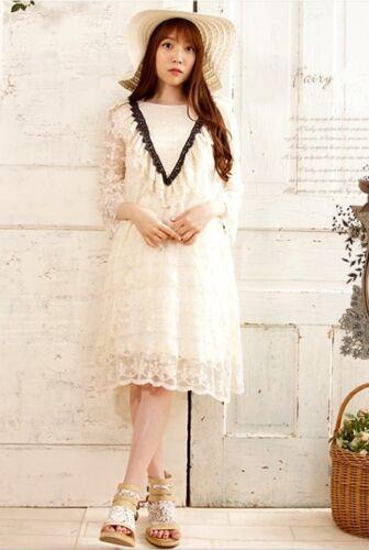 144c3a4ae9a Vintage Robe Mori Ancienne Girl Boheme Retro Dentelle Chic Superposition  Hippie HHfOX