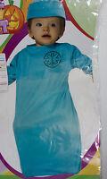 Baby Infant Surgeon Halloween Costume Bunting Scrubs Cap Newborn 0-9 Mos S6