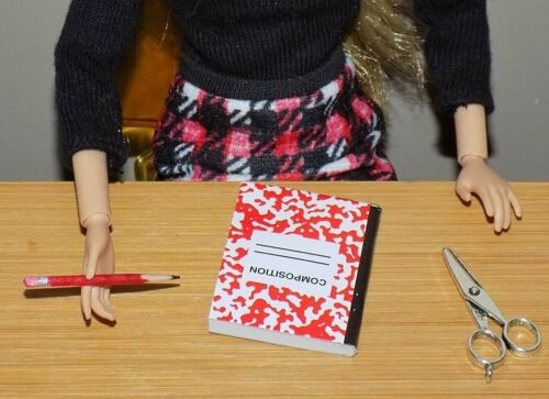 BARBIE DOLL SCHOOL LOT PENCIL NOTE BOOK SCISSORS MY SCENE STACIE DREAMHOUSE LIV
