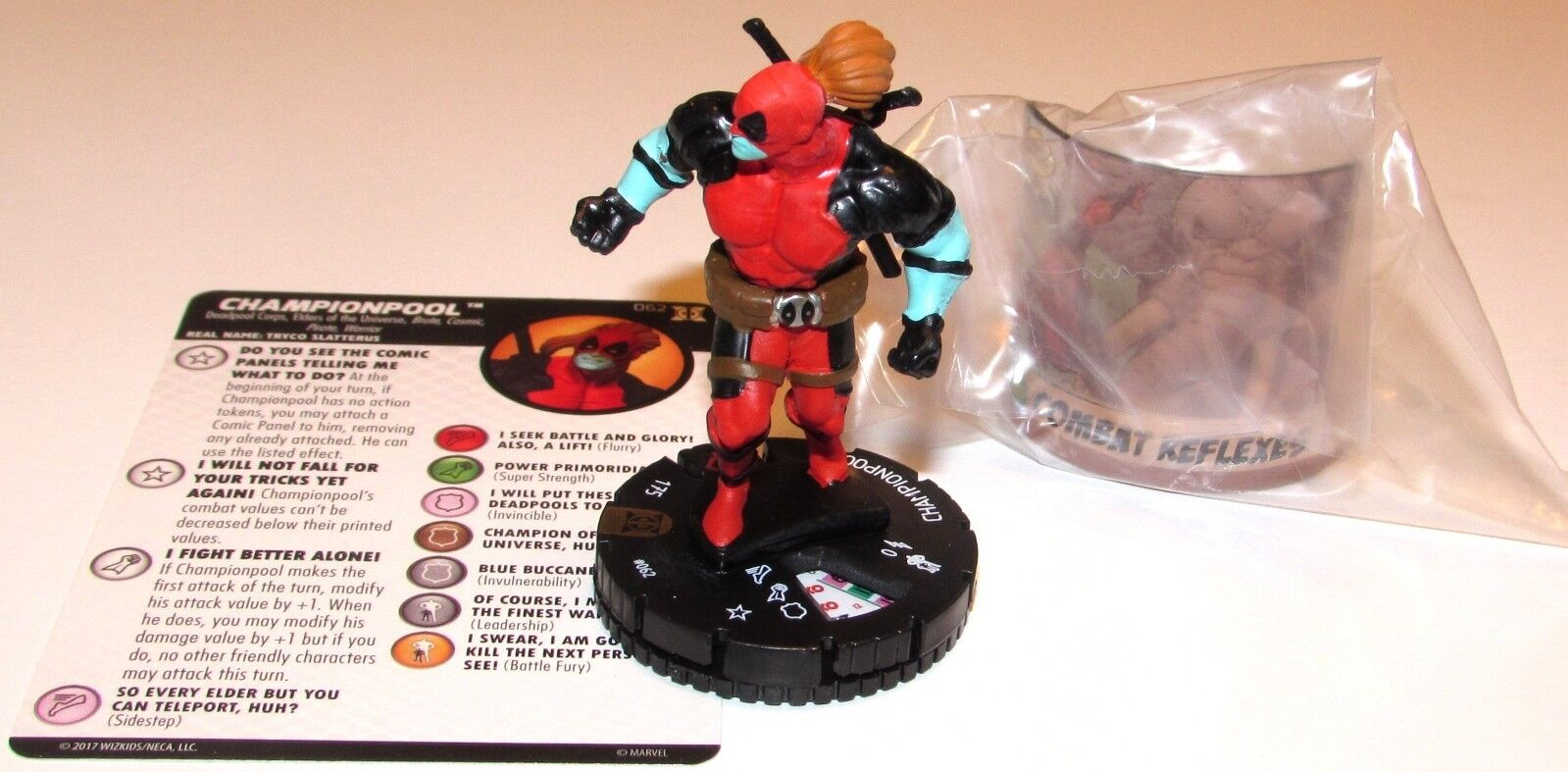 CHAMPIONPOOL +Comic Panel 062 Deadpool and X-Force Marvel HeroClix Chase Rare