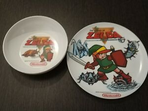The-Legend-of-Zelda-Plate-and-Bowl-1988-Nintendo-Official-Merchandising