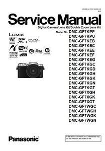 panasonic lumix dmc gf7 gf7k gf7x gf7w service manual repair guide rh ebay com panasonic dmc-tz30 service manual Panasonic Lumix DMC-TZ10
