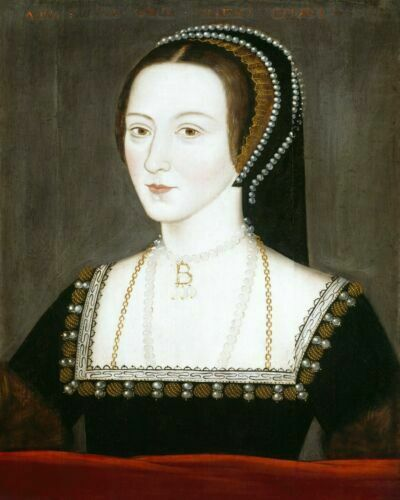 Anne Boleyn Queen of England Royal Painting Artwork Paint By Numbers Kit DIY