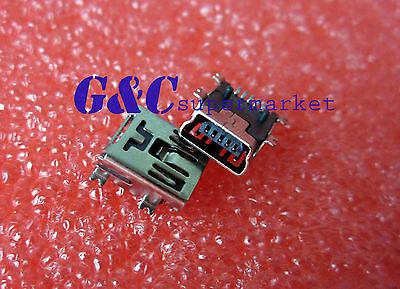 50PCS Mini USB SMD 5-Pin Female Mini B Socket Connector D39