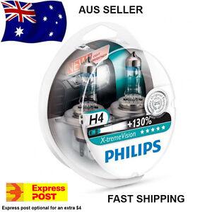 Philips-X-Treme-Vision-130-H4-Headlight-Globes-AUS-SELLER-Xtreme