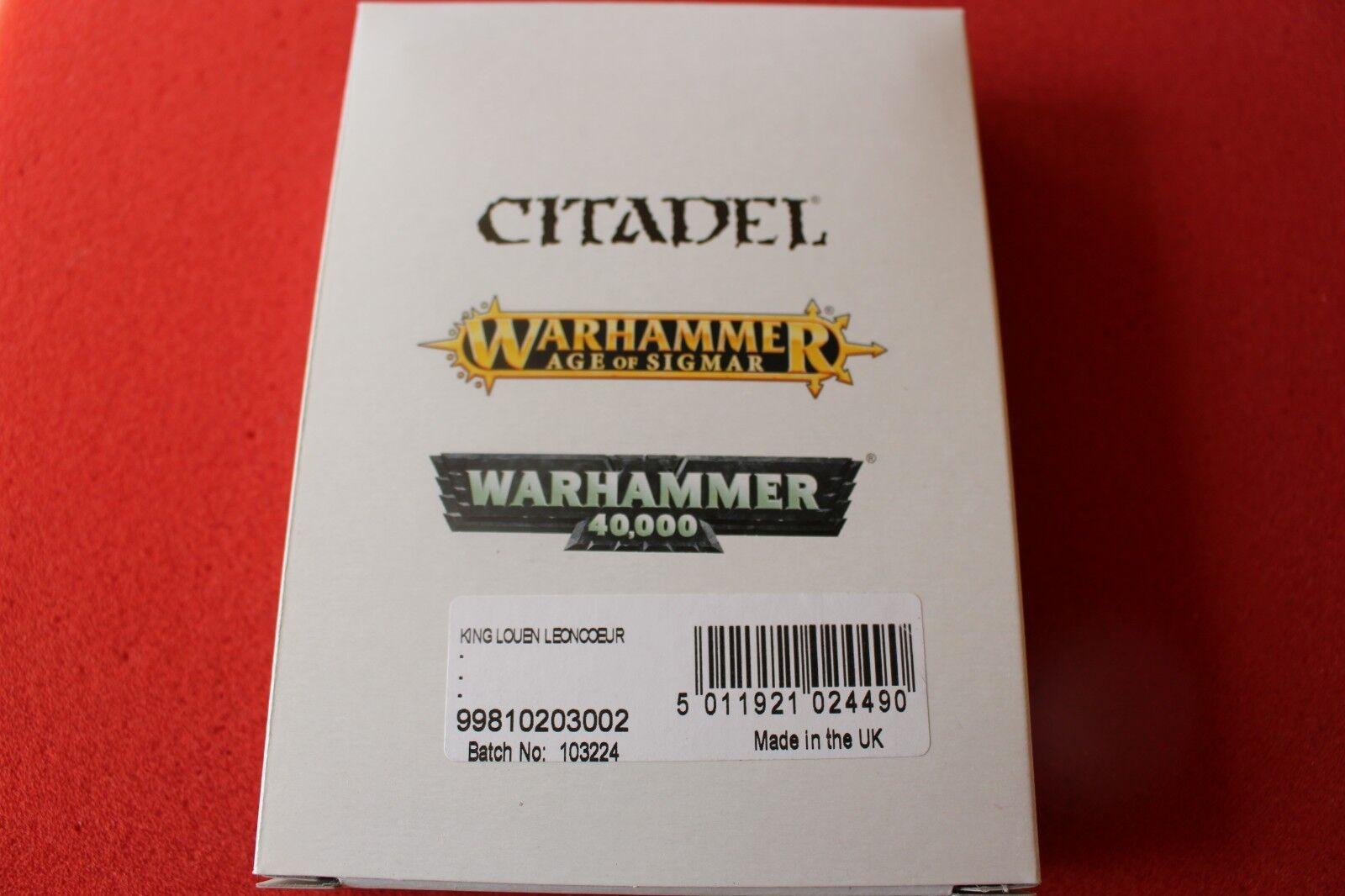 Juegos taller Warhammer Bretonnian Rey Louen LEONCOUER Nuevo en Caja Nuevo finecast fuera de imprenta