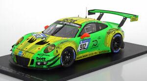 2018 1 991 Echelle Porsche 24h Nurburgring 18 911 R Spark Gagnant Gt3 912 xn87av
