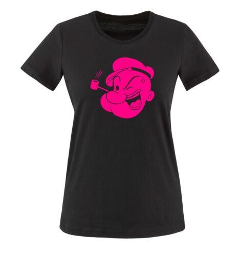 Damen Frauen T-Shirt Gr XS bis XXL Diverse Farben POPEYE TUT TUT