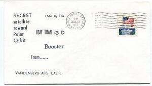 1973 Secret Satellite Toward Polar Orbit Usaf Titan 3d Booster Vandenberg Usa RafraîChissant Et BéNéFique Pour Les Yeux