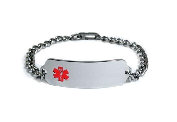 Pacemaker Diabetic High Blood Pressure Medical Alert Id Bracelet Engrave Ebay