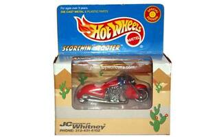 Hot Wheels Special Edition JC Whitney Exclusive Scorchin Scooter red//white//blue