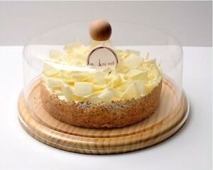 Image is loading Clear-Plastic-Cake-Pastry-Dome-Cover-with-Wooden- : clear plastic cake plates - pezcame.com