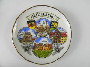 Iman-Plato-Porcelana-6-cm-Heidelberg-Candado-Heiliggeistkirche-Recuerdo