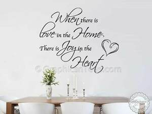 Family Wall Sticker Love Home Quote