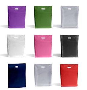 Carrier-Bags-Various-colours-9-034-x-12-034-23cm-x-31cm-Plastic-Gloss-Finish