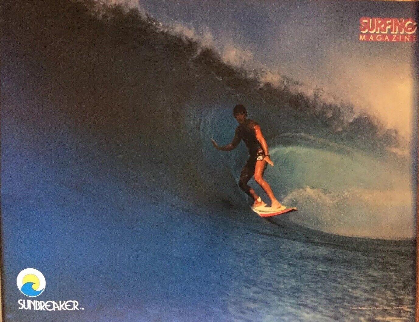 VTG 1982 Surfing MAGAZINE poster Hans Hedemann(surf,Eddie Aikau,endless Summer
