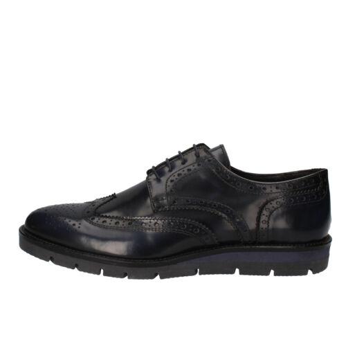 men/'s shoes J BREITLIN 8 elegant blue shiny leather AD13-B EU 41