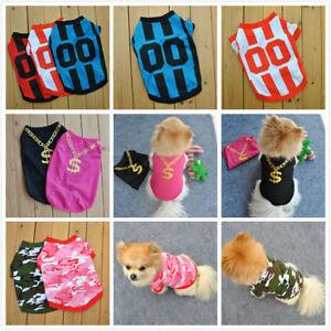 9622e4a48 Unisex Pet Clothes Apparel Puppy Dog Cat Vest T Shirt Coat Dress ...