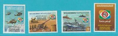 Vereinigte Arabische Emirate 1993 ** Minr. 471-474 Dex´95 Flugzeuge Hubschrauber