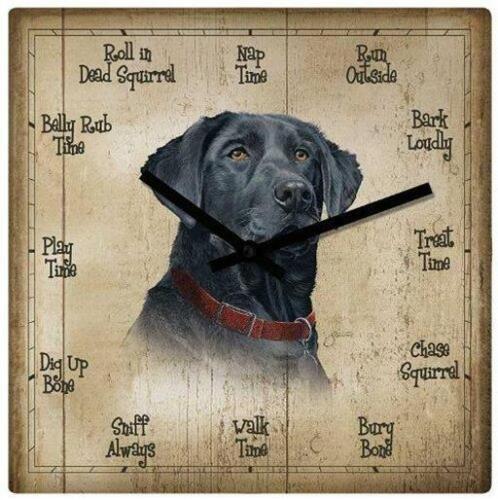 Labrador Retriever Black Lab Dog Wild Wings Nature Clock Loyal Companion NIB