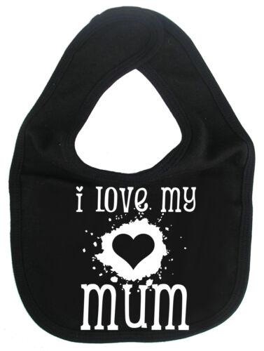 """Mum Baby Bib /""""I Love My Mum/"""" Mummy Mother/'s Day Birthday Gift"""