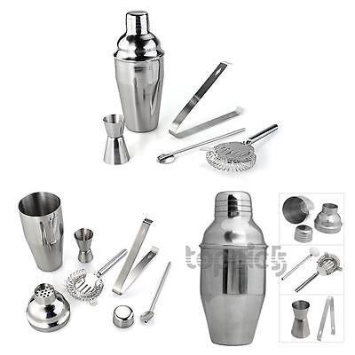 Set 5 Stainless Steel Cocktail Shaker Jigger Mixer Bar Drink