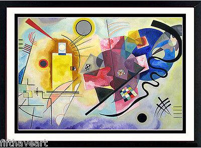 Kandinsky Poster Art Custom Framed Print  Gelb Blau Rot