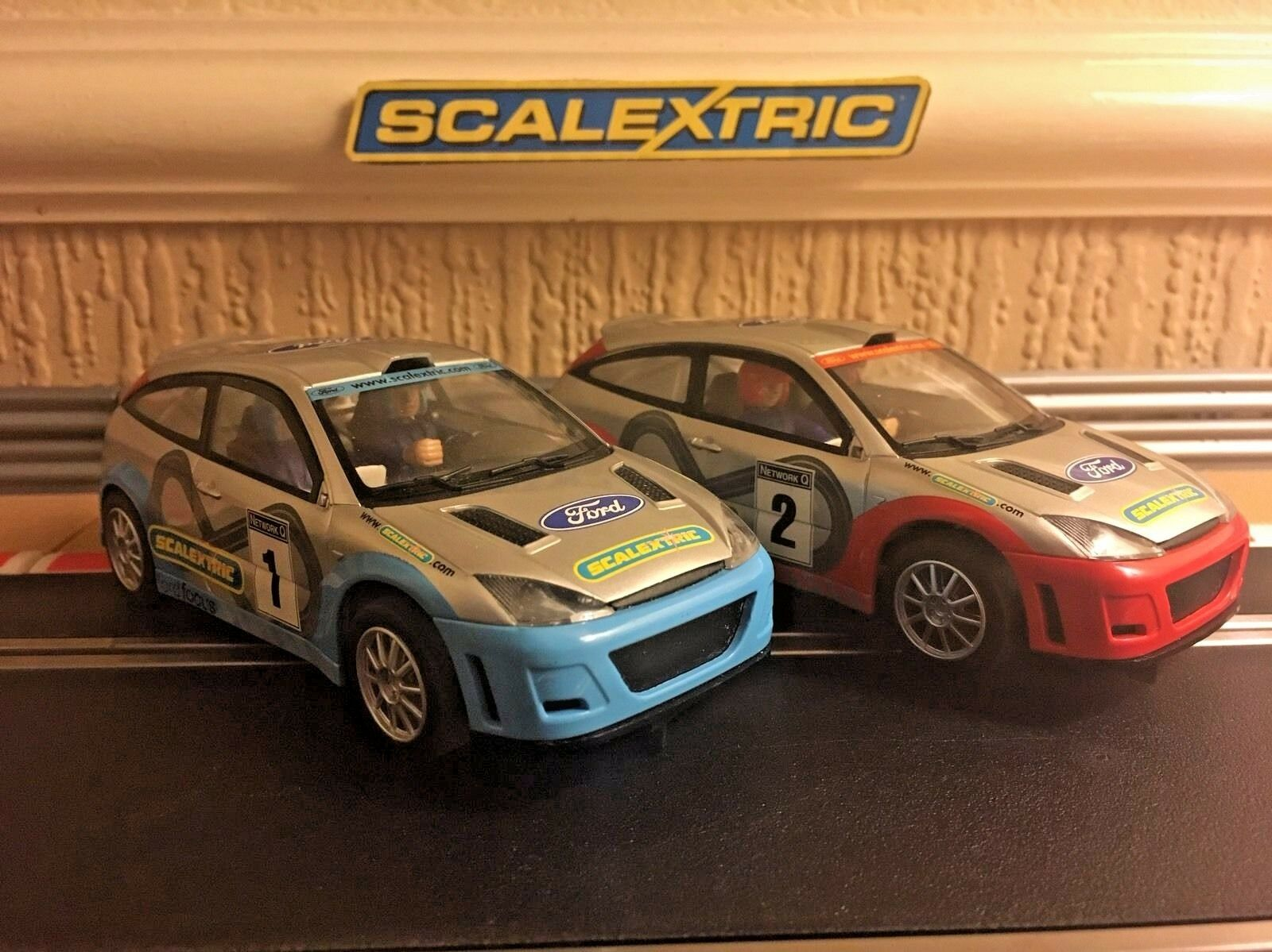 Scalextric Ford Focus No1 & No2 Rare Set Cars In Great Condition Fully Serviced