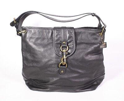 #26B Luxury Damen Tasche Leder schwarz Schultertasche Shopper modern