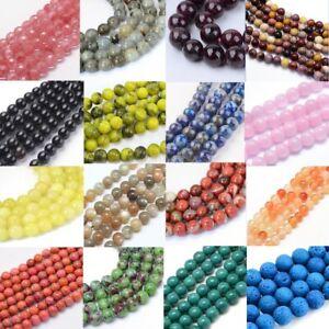 8mm-Semi-Precious-Gemstone-Round-Bead-Jewellery-Making-approx-44-50-Pieces