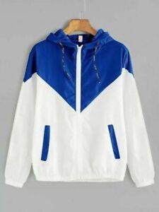 Blue-Women-fashion-Windbreaker-Spring-for-Coat-Jacket-new-Size-xxs