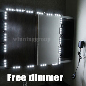10ft LED Mirror Light Kit Hollywood Makeup Mirror Light Vanity White With Dim