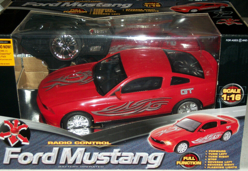 Radio Remote Control Car Red Ford Mustang 1 16 scale scale scale Collectible Xmas Gift Toy cf8e7b